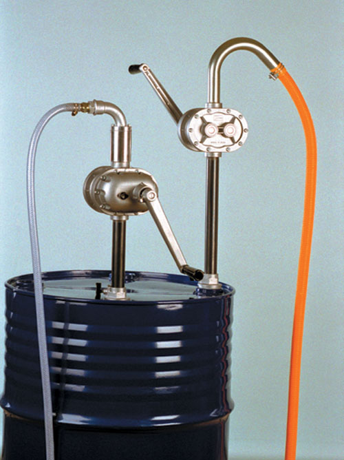 Manually operated rotary pumps