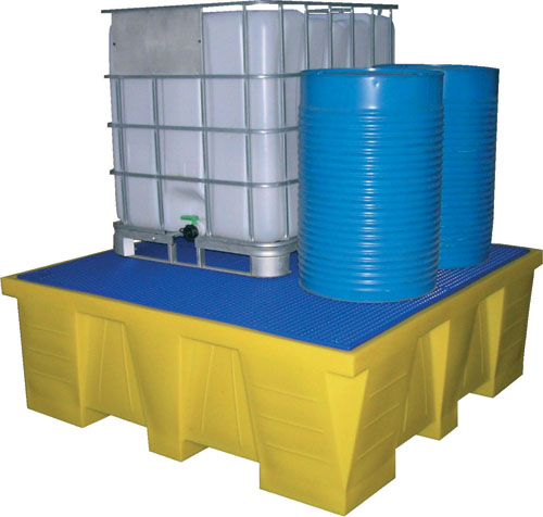 Containment sumps for drums and IBCs