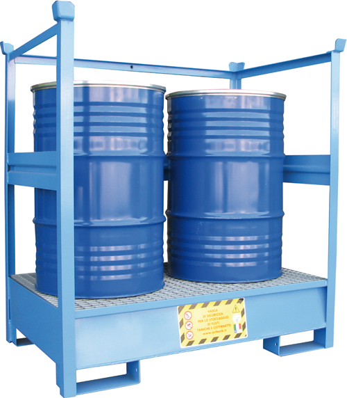STEEL SUMPS FOR DRUMS AND IBCs