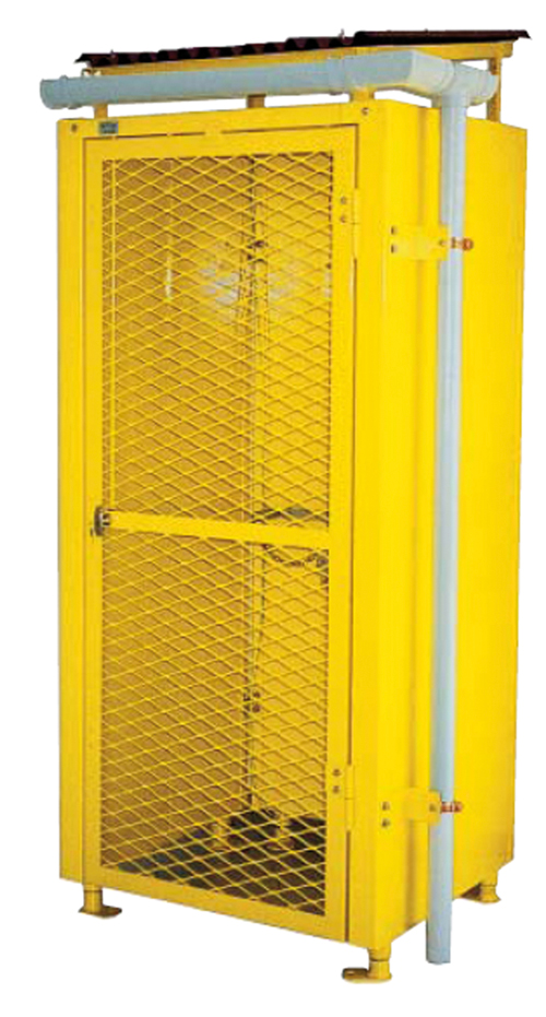 Cabinets for compressed gas cylinder storage