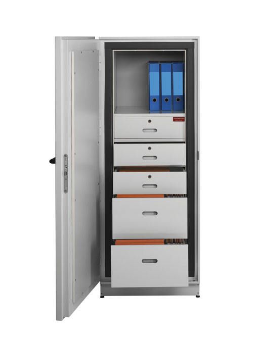 Magnetic and paper records cabinets