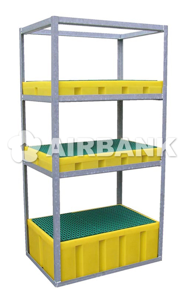 Shelving with spill pallets  | AIRBANK Industria Sicurezza Ambiente
