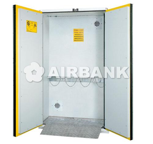 armadi per bombole di gas compressi certificati per interno