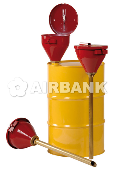 Safety funnel with self-closing lid and flame arrestor.  | AIRBANK Industria Sicurezza Ambiente