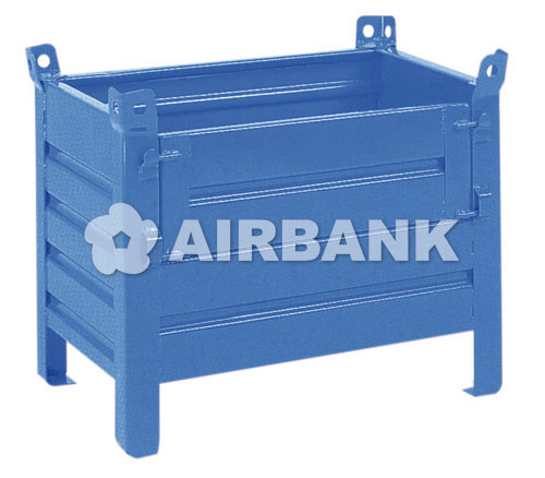 CORRUGATED STEEL CONTAINER WITH FLAP  | AIRBANK Industria Sicurezza Ambiente