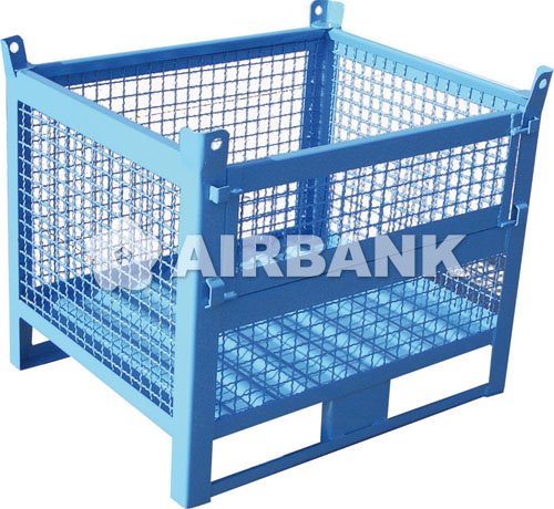 WIRE MESH CONTAINER WITH FLAP  | AIRBANK Industria Sicurezza Ambiente