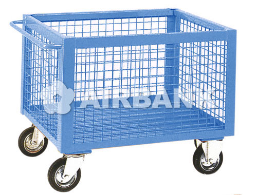 WIRE MESH CONTAINER WITH CASTERS  | AIRBANK Industria Sicurezza Ambiente