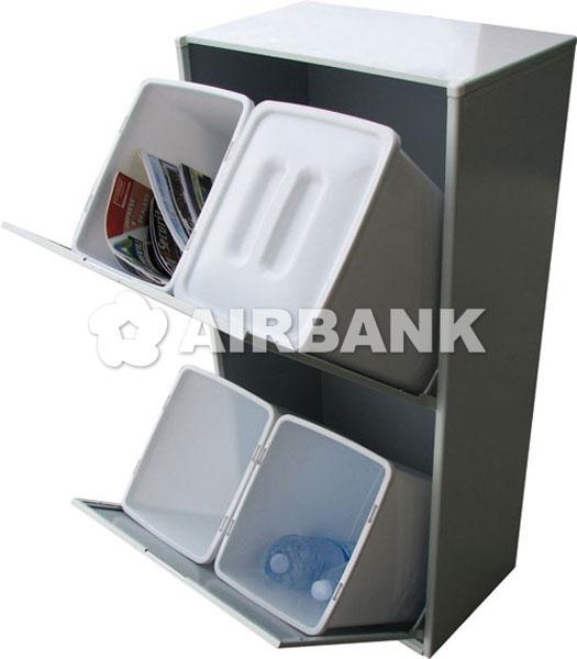 Armadio in acciaio per raccolta differenziata - Bidoni per differenziata casa ...