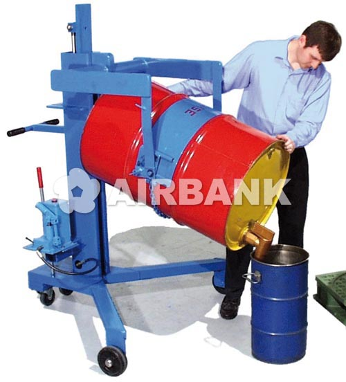 Drum palletizer with manual lift and tilt  | AIRBANK Industria Sicurezza Ambiente