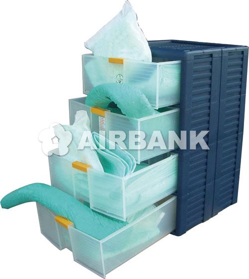 4 x polyethylene (Pe) modular drawers