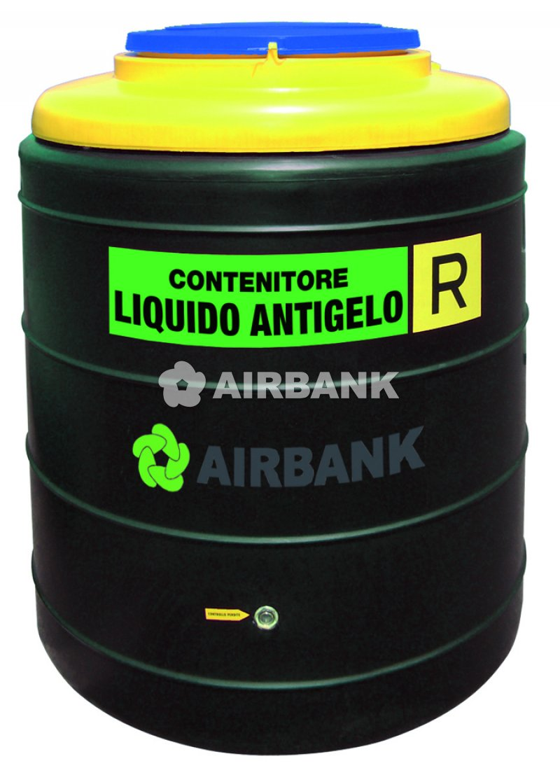 POLYETHYLENE (PE) CONTAINERS FOR STORAGE OF ANTIFREEZE, BRAKE FLUID AND HYDRAULIC FLUID  | AIRBANK Industria Sicurezza Ambiente