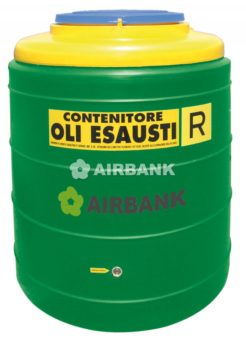 POLYETHYLENE (PE) CONTAINER FOR STORAGE OF USED VEGETABLE OIL  | AIRBANK Industria Sicurezza Ambiente
