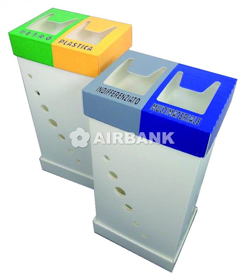 TWIN-COMPARTMENT CONTAINER IN ALVEOLAR PP  | AIRBANK Industria Sicurezza Ambiente