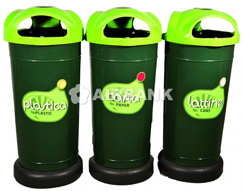 ECO WASTE MANAGEMENT STATION WITH 3 or 4 CONTAINERS  | AIRBANK Industria Sicurezza Ambiente