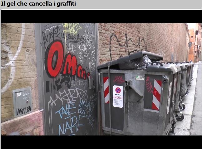 Video Tiscali su Graffless, Il gel che cancella i graffiti